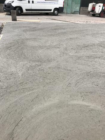 Rough Pan Surface Finish To The External Concrete Floor Improve Slip And Abrasion Resistance During Trafficking