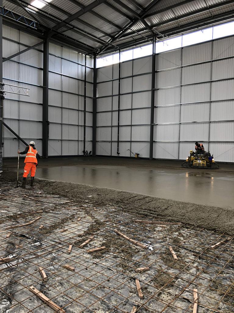 Industrial Concrete Floor Slab For Refurbished Warehouse