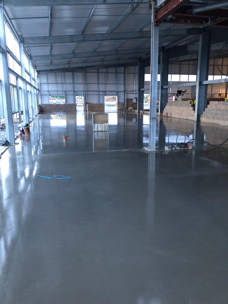 Concrete Flooring For New Airport Terminal Walney Island