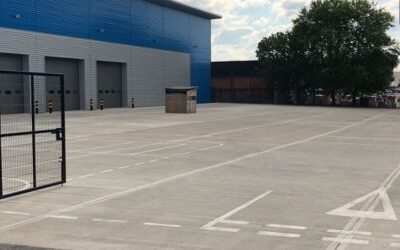 External concrete yard for new logistics centres are carried out on a regular basis by Level Best Concrete Flooring the Yorkshire based industrial concrete flooring contractors.