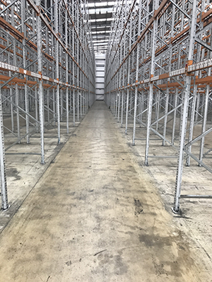 High bay warehouse concrete floor slab construction