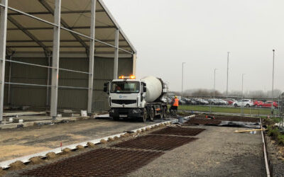 External concrete slabs being laid in North Lincolnshire