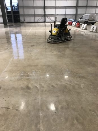 The final polishing and buffing if the floor is completed and the area of 1,800m2 of the Floor Renovation System is completed in one and a half days.