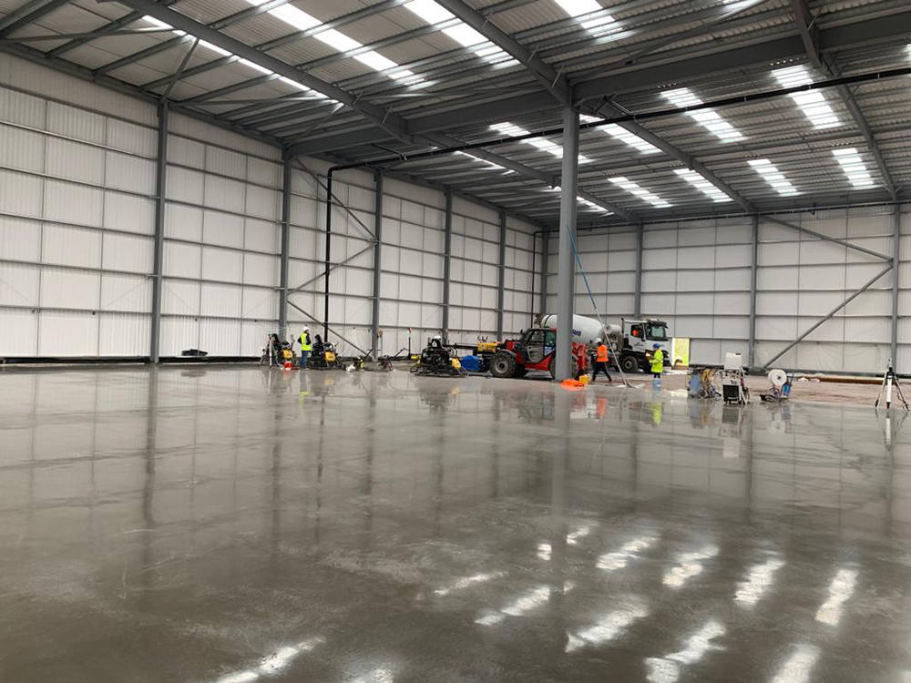 Concrete Floor Slabs For New Speculative Warehouse