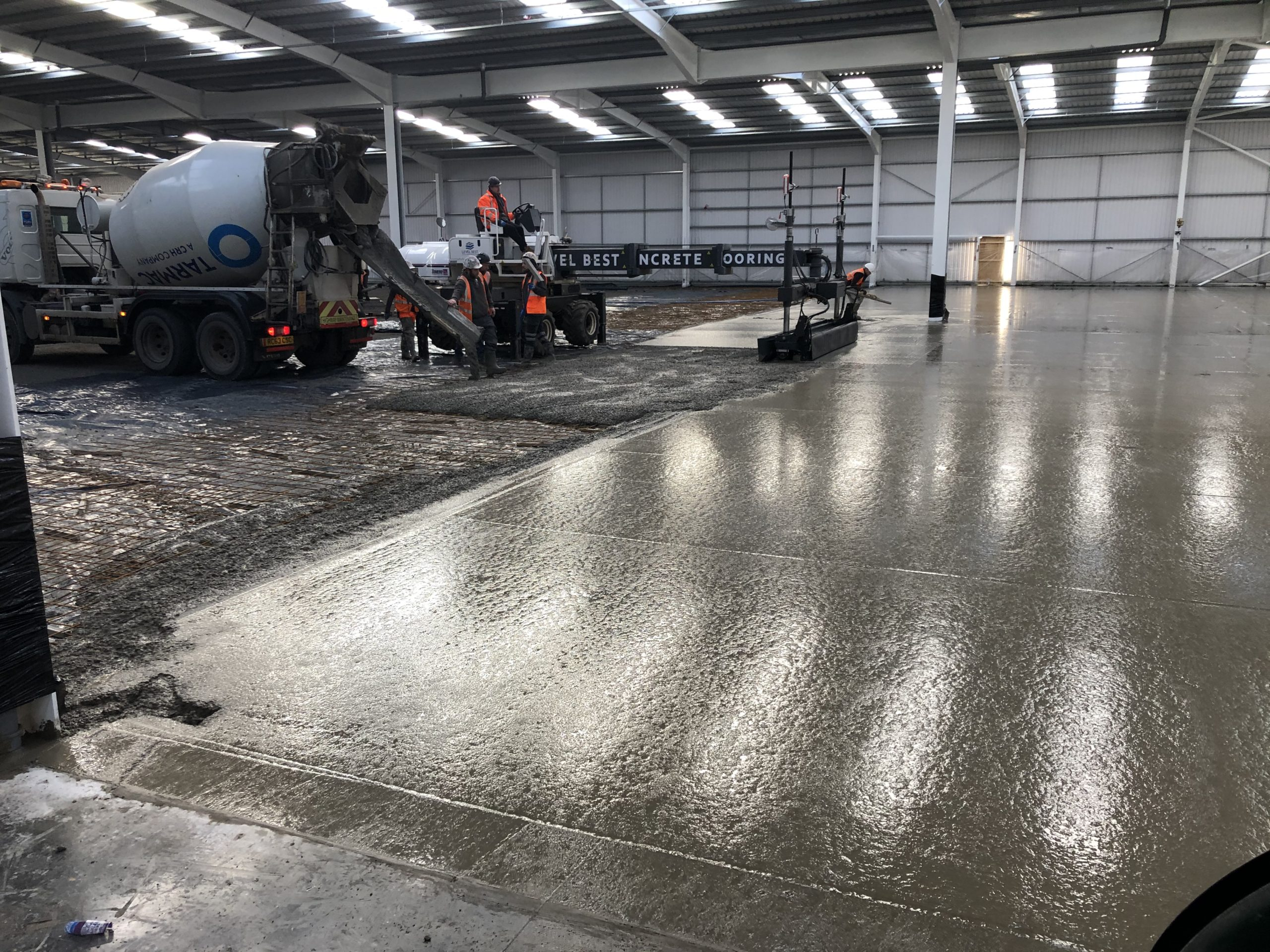 Large Warehouse Floor Extension At Stokes Tiles Sheffield By Level Best Concrete