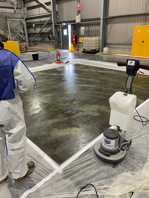Anti-slip concrete flooring solution carried out by Level Best