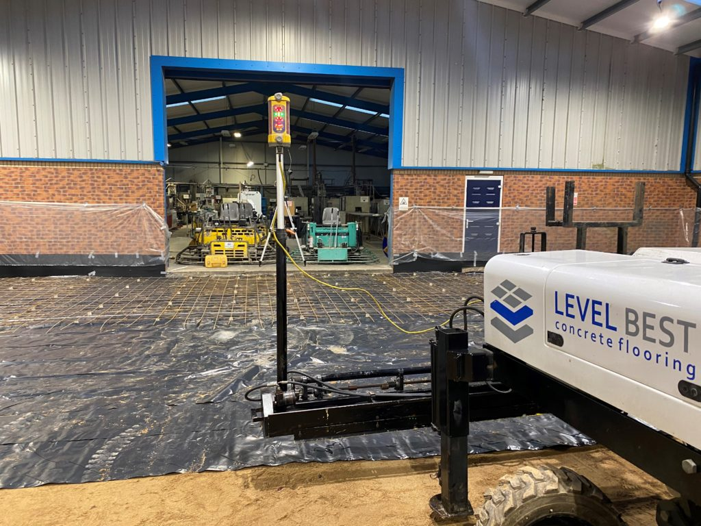 Laser screed concrete flooring in Scunthorpe, North Lincolnshire