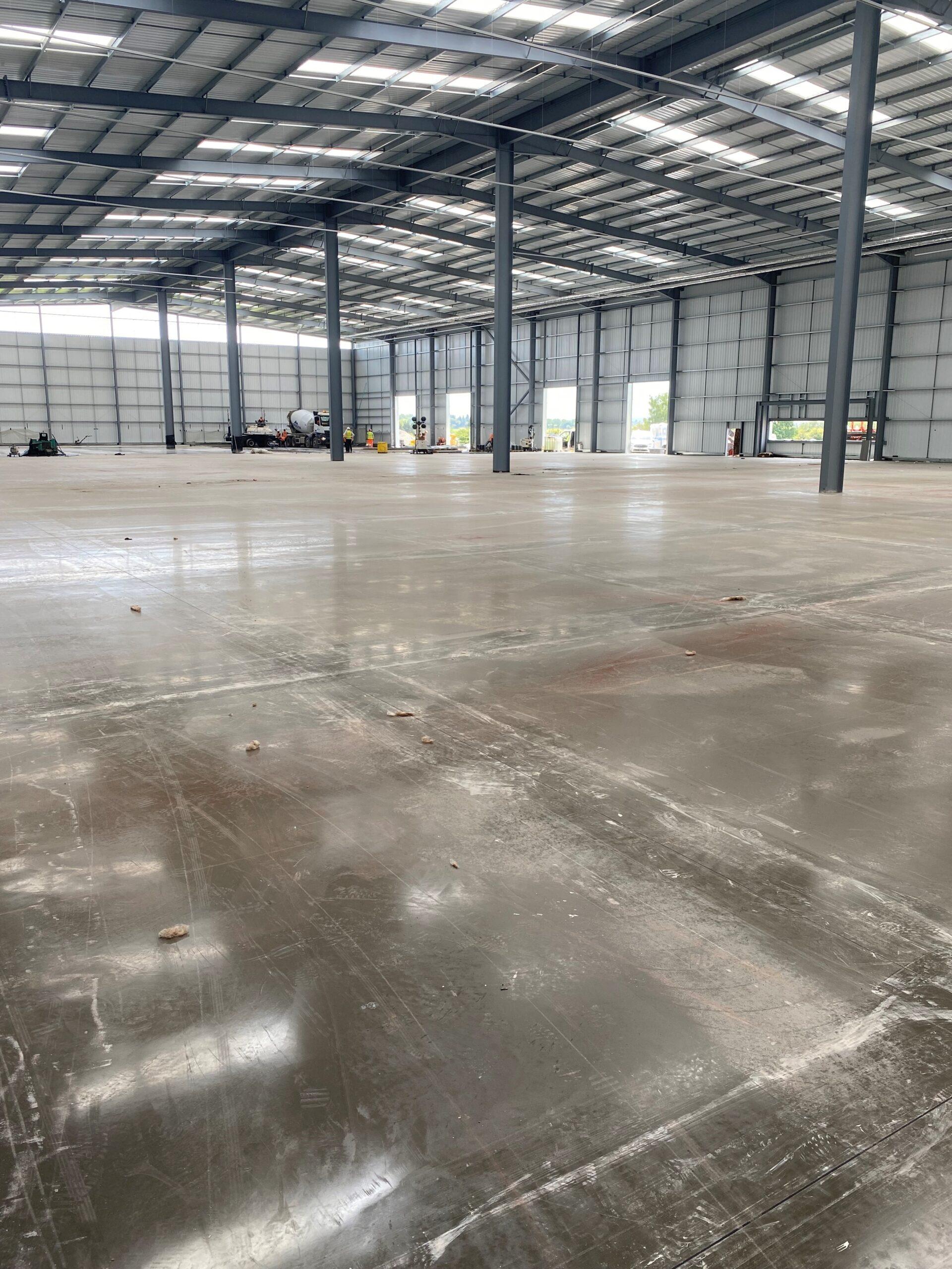 Warehouse concrete flooring by Level Best Concrete Flooring
